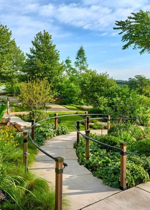 Accessible pathway which winds though garden and its ever changing views