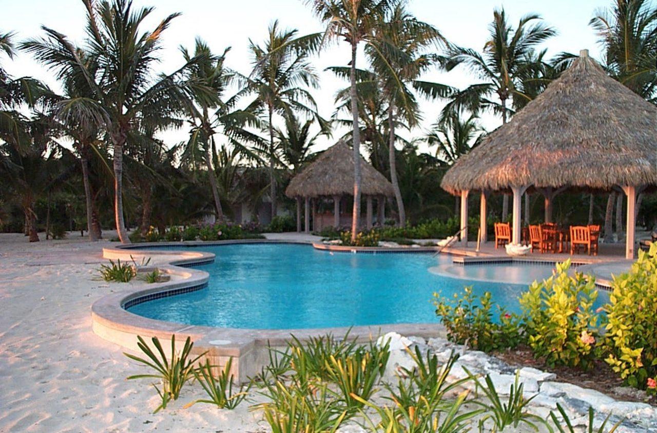 Beachside pool in a tropical setting